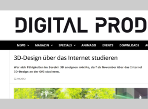 Digital Production - 3D-Design über Internet studieren OfG