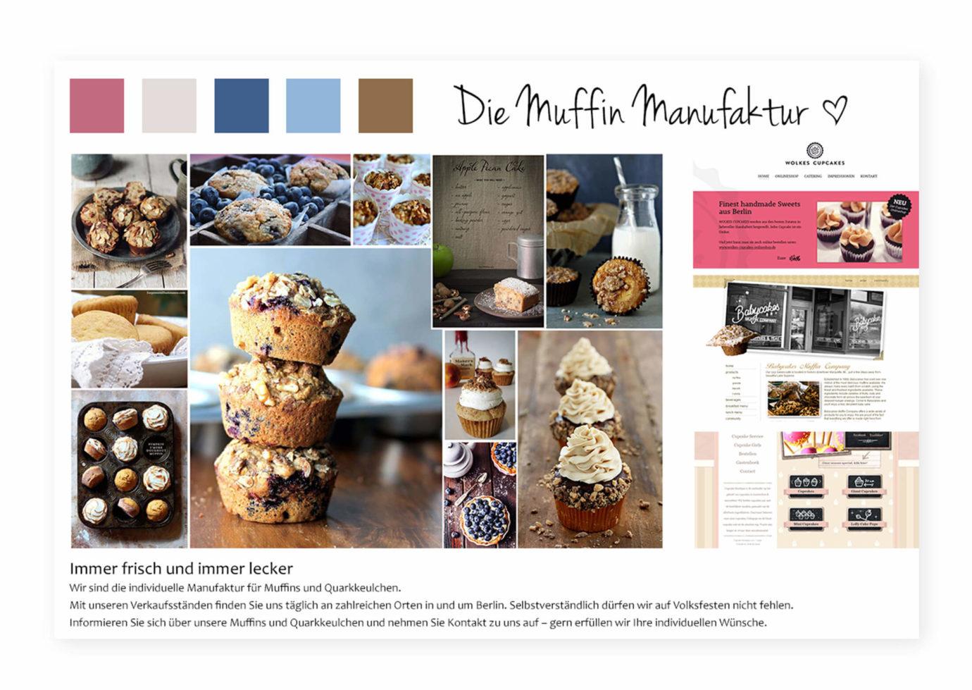 Webdesign / Moodboard von Blanka Toeth