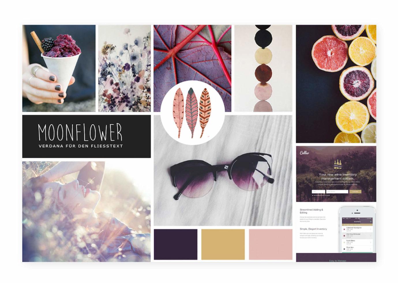 Webdesign / Moodboard von Jessica Lürkens